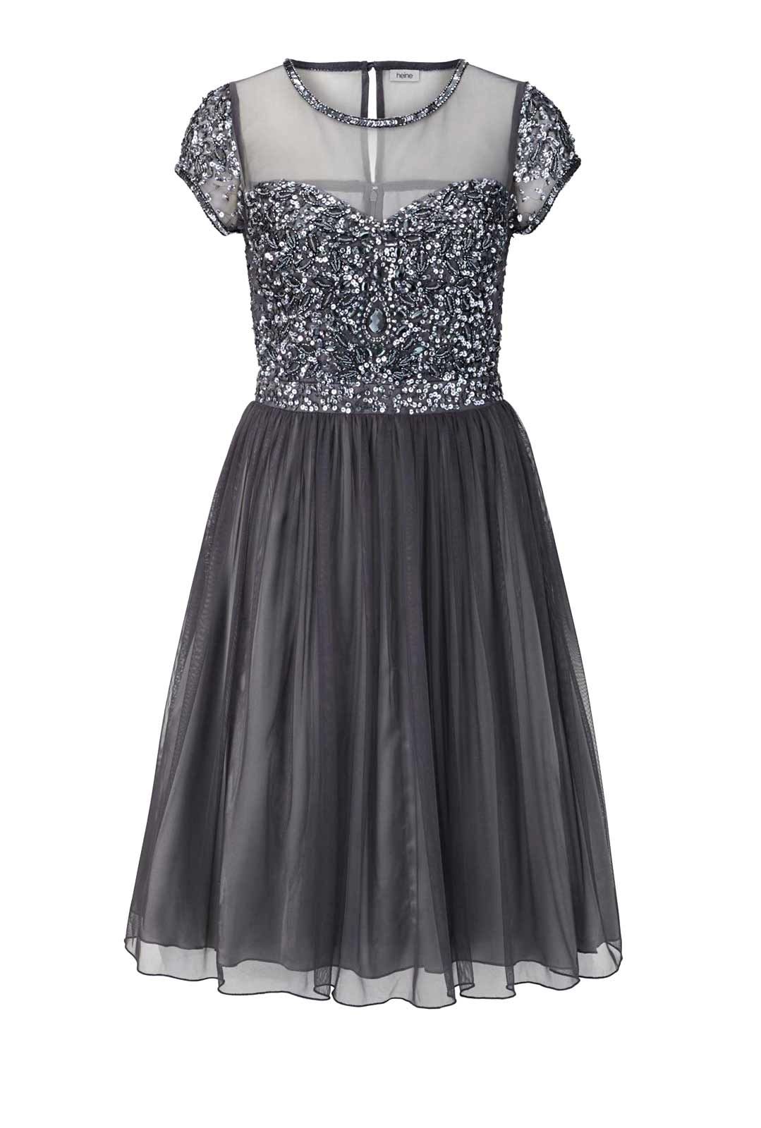kurzes kleid für besondere anlässe Heine Cocktailkleid mit Petticoat anthrazit 836.823 Missforty
