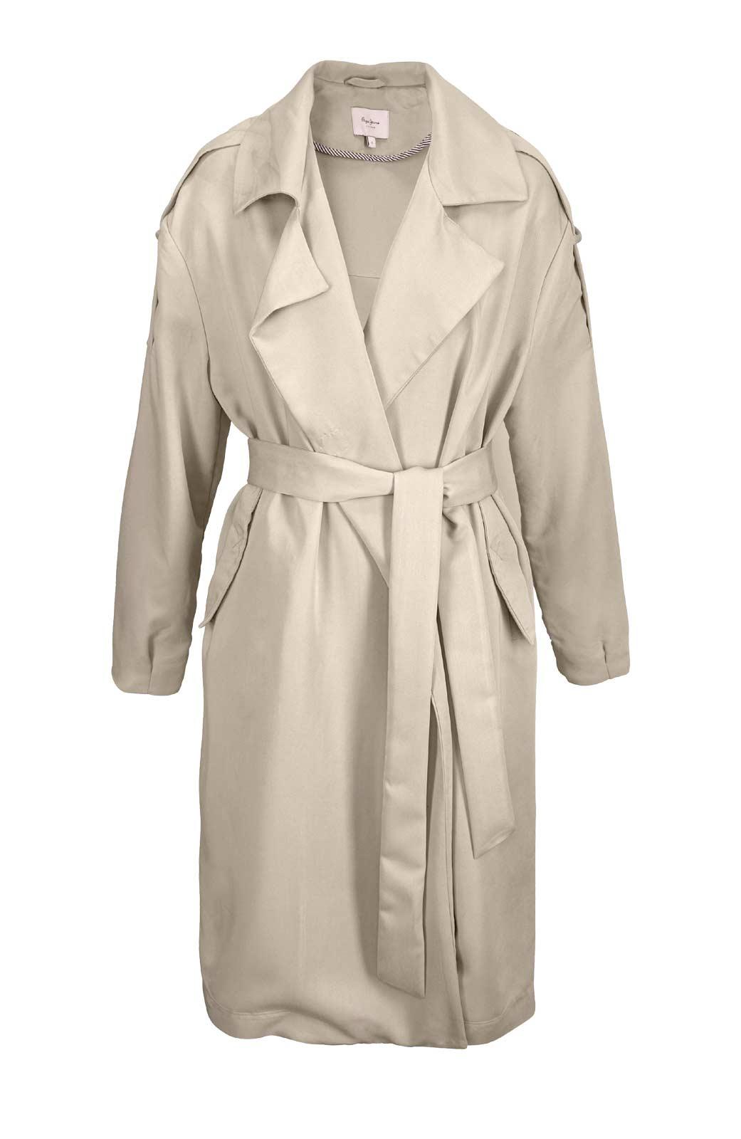 Damenmäntel Frühjahr 2021 Übergangsmantel kurz Damen Trenchcoat Damen beige Frühlingsmantel Pepe Jeans 877.581 Missforty