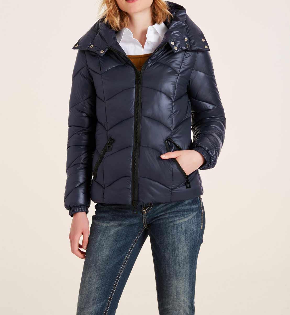 jacken auf rechnung bestellen als neukunde HEINE Damen Designer-Steppjacke Blau Wattiert Warm Winterjacke Winter Jacke 891.689 MISSFORTY