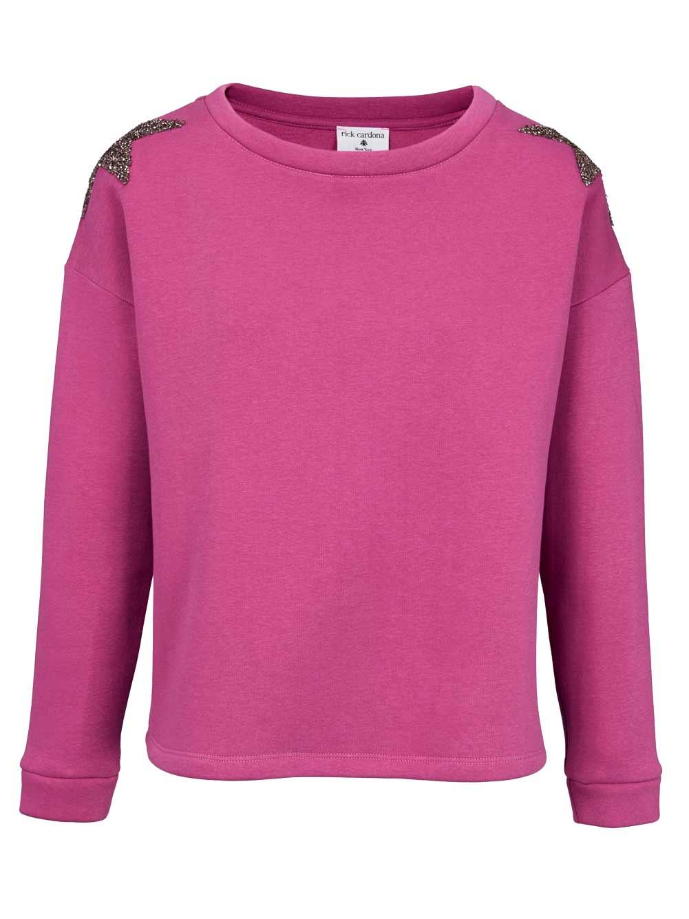 t shirts ohne ärmel HEINE Damen Designer-Sweatshirt m. Strasssteinen Pink 894.281 Missforty