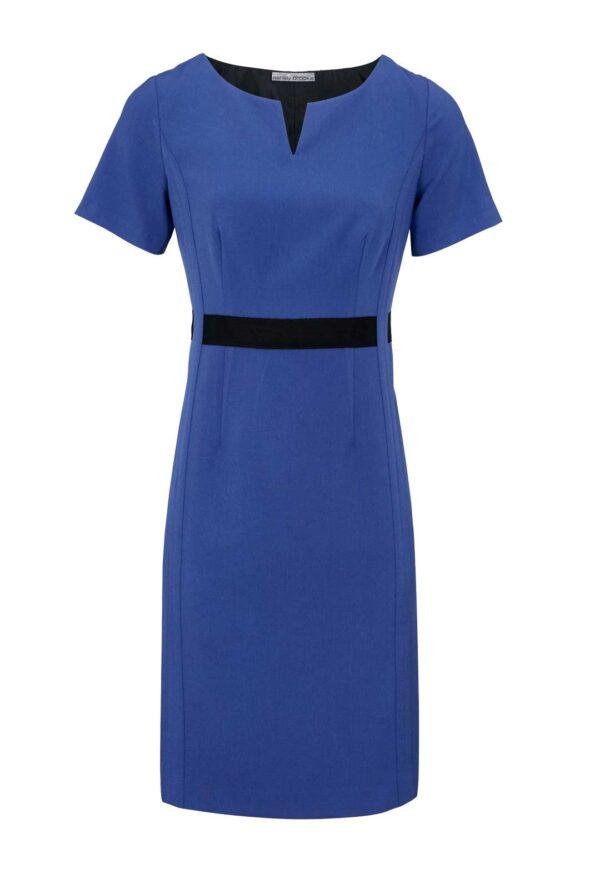 business kleider für damen ASHLEY BROOKE Damen Designer-Etuikleid Azurblau Bürokleid Businesskleid Blau 967.607 Missforty