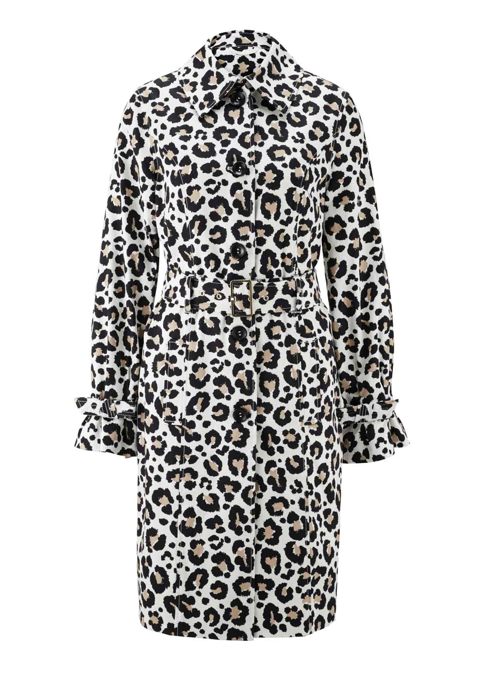 Damenmäntel Frühjahr 2021 Kurzmantel Sommer Damen Mantel Leopardenmuster Trenchcoat Muster kurz elegant 990.549 Missforty