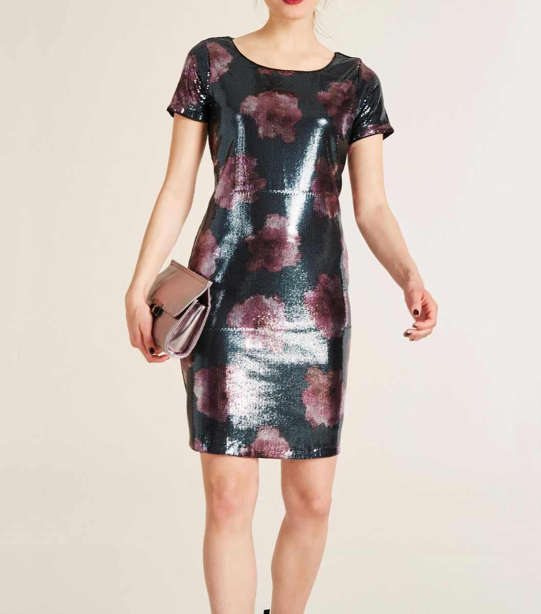 kurzes kleid für besondere anlässe ASHLEY BROOKE Damen Designer-Cocktailkleid m. Pailletten Bunt 998.309 Missforty