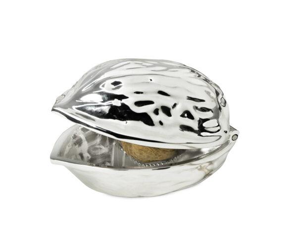 nützliche geschenke für männer Nussknacker Walnuss, edel versilbert, anlaufgeschützt, Länge 12 cm 0249 Missforty