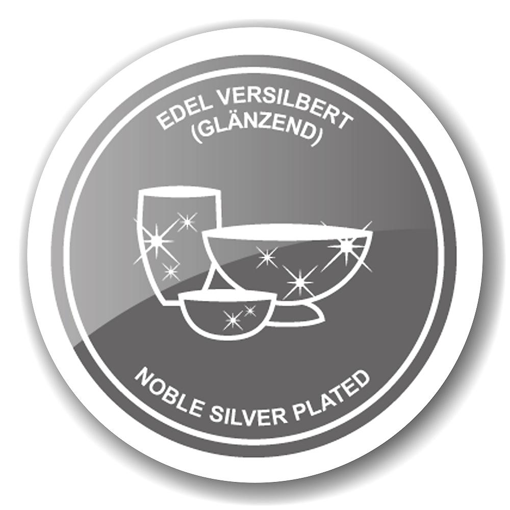 Salz- und Pfefferstreuer modern Edzard Salz- und Pfefferstreuer Salzstreuer Greca Silberfarben Versilbert Edel 4464 MISSFORTY