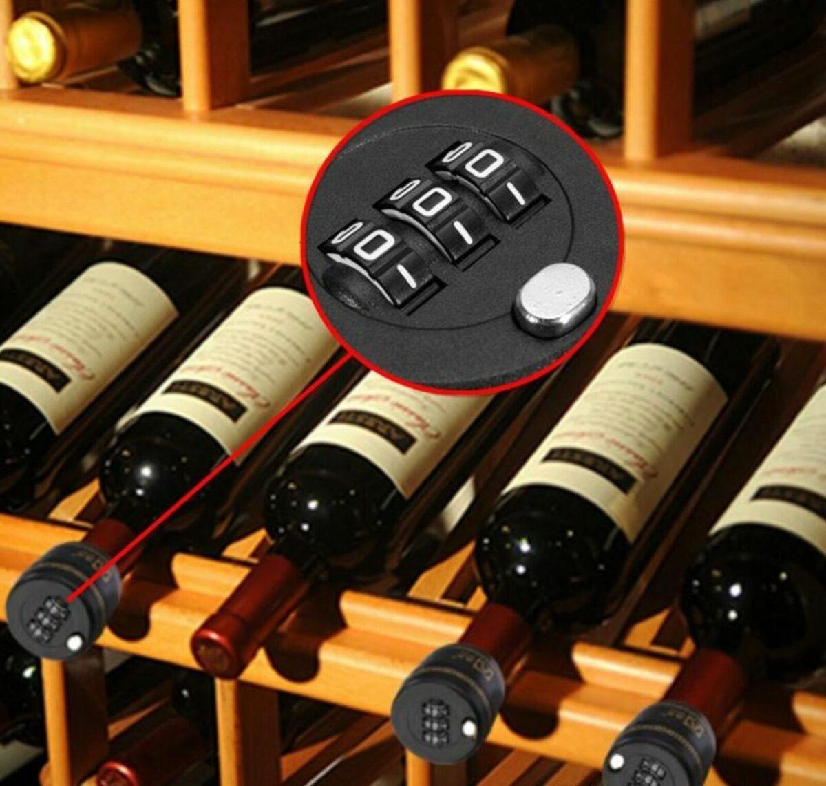 Zahlenschloss Weinflasche | Missforty