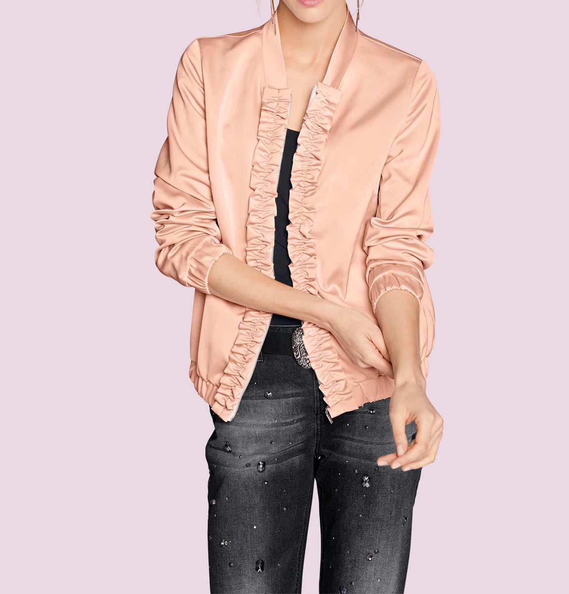 jacken auf rechnung bestellen als neukunde Damen-Blouson, rosé 007.432a MISSFORTY