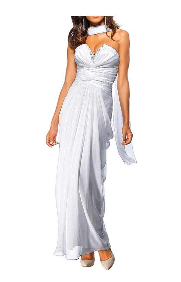 Festmoden Heine Abendkleid lang, weiß 024.651 024.651 Missforty