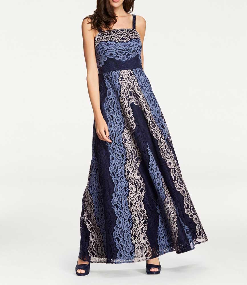 Festmoden Ashley Brooke Abendkleid lang, Blautöne 044.367 044.367 Missforty