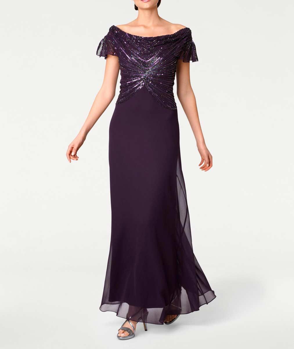 Festmoden Ashley Brooke Abendkleid lang, pflaume 051.773 051.773 Missforty