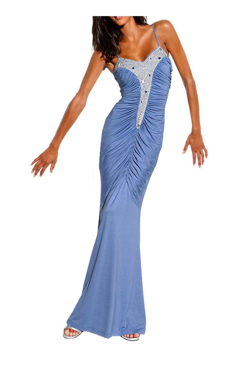 Festmoden Carry Allen by Ella Singh Abendkleid lang, blau 067.894 067.894 Missforty
