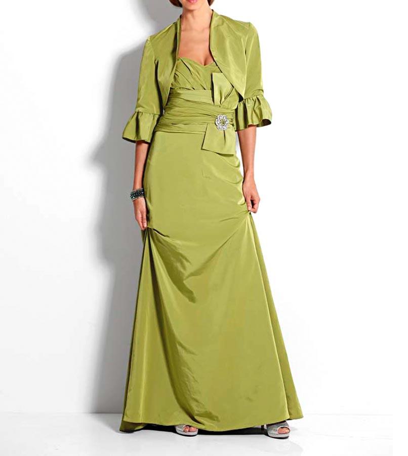 Festmoden Heine Abendkleid lang, grün 085.746 Missforty
