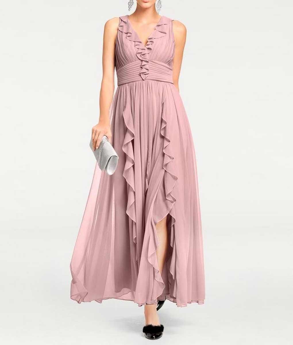 Festmoden Ashley Brooke Abendkleid lang, rosé 099.300 099.300 Missforty