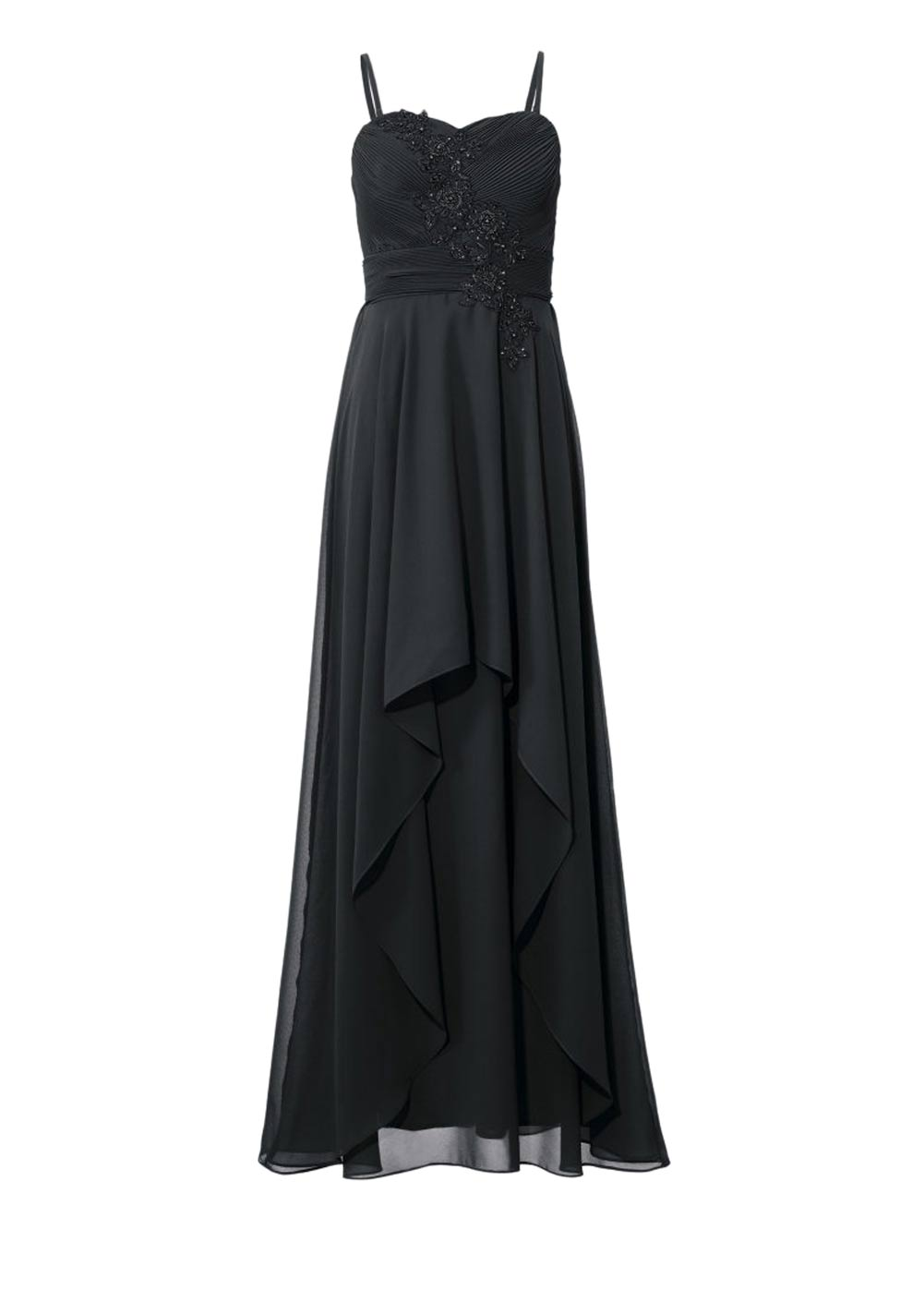 Festmoden Ashley Brooke Abendkleid lang, schwarz 132.868 132.868 Missforty