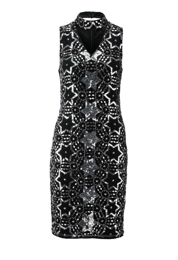 kurzes kleid für besondere anlässe Heine Cocktailkleid mit Pailetten schwarz-silber 176.681 Missforty
