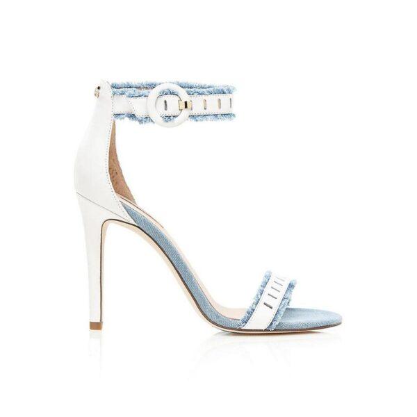 Guess High Heels, weiß-hellblau 182.686a Missforty