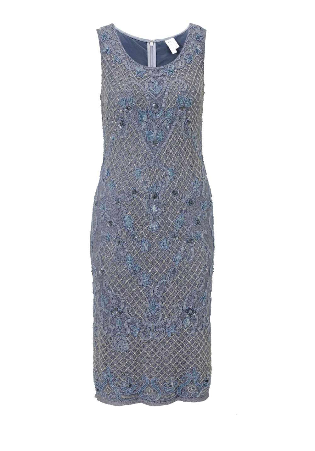 kurzes kleid für besondere anlässe Heine Cocktailkleid mit Perlen graublau 187.608 Missforty