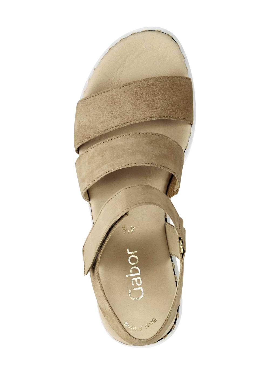 303.613 Veloursleder-Sandalette, beige von GABOR Grösse 7,5