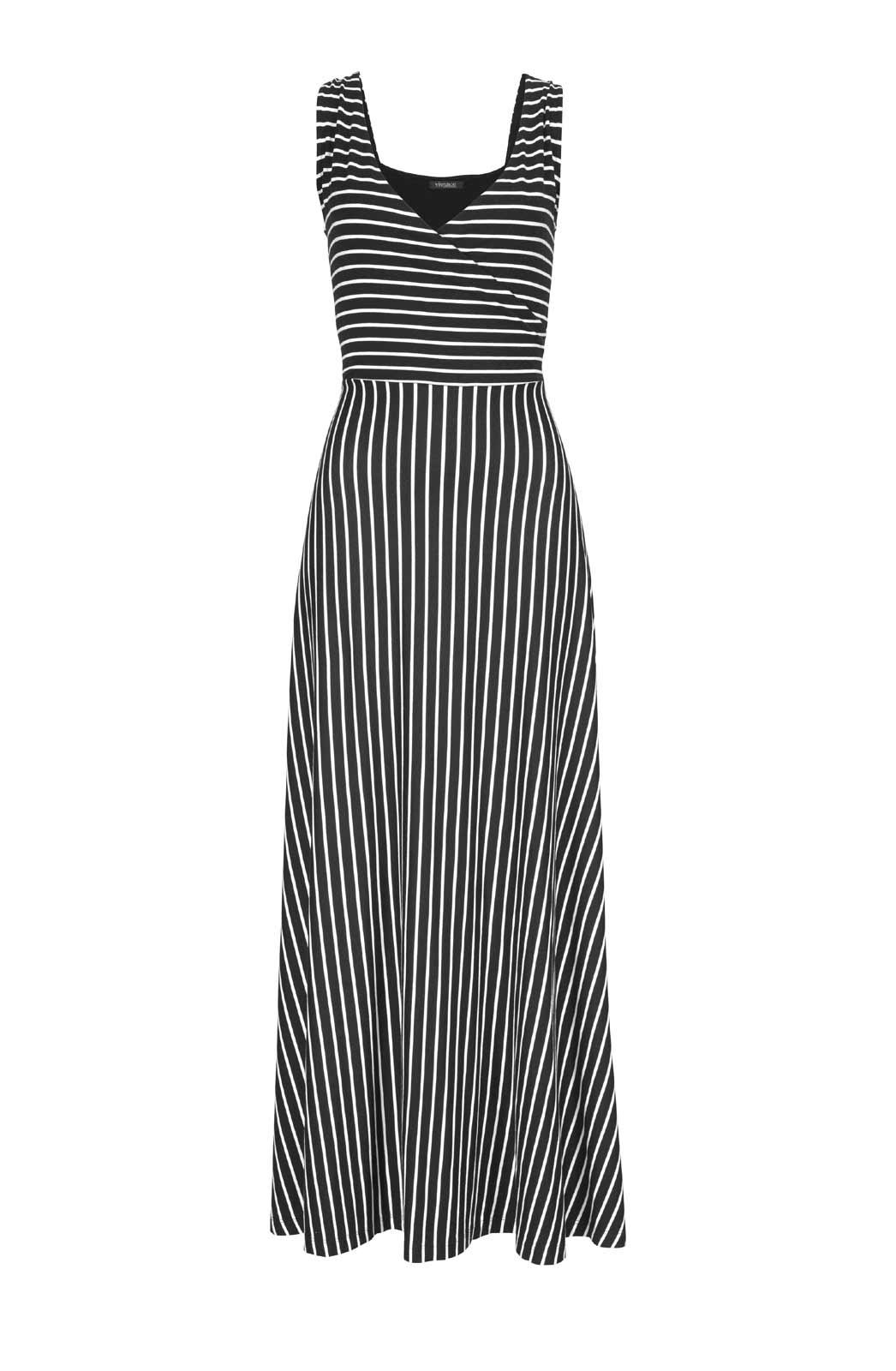 Vivance Collection Maxikleid, schwarz-weiß 395.154 missforty