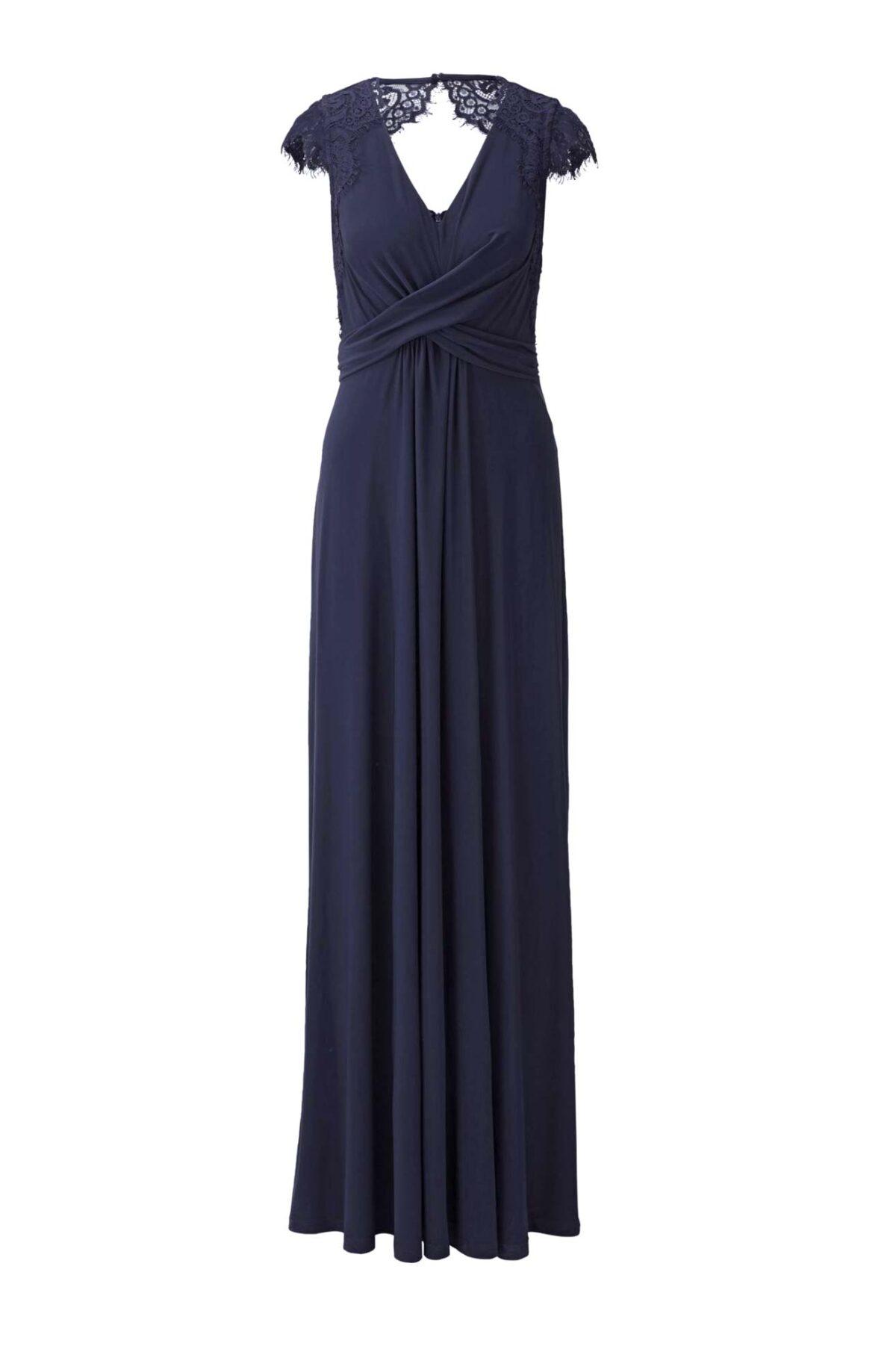 Festmoden Heine Abendkleid lang, nachtblau 424.627 424.627 Missforty