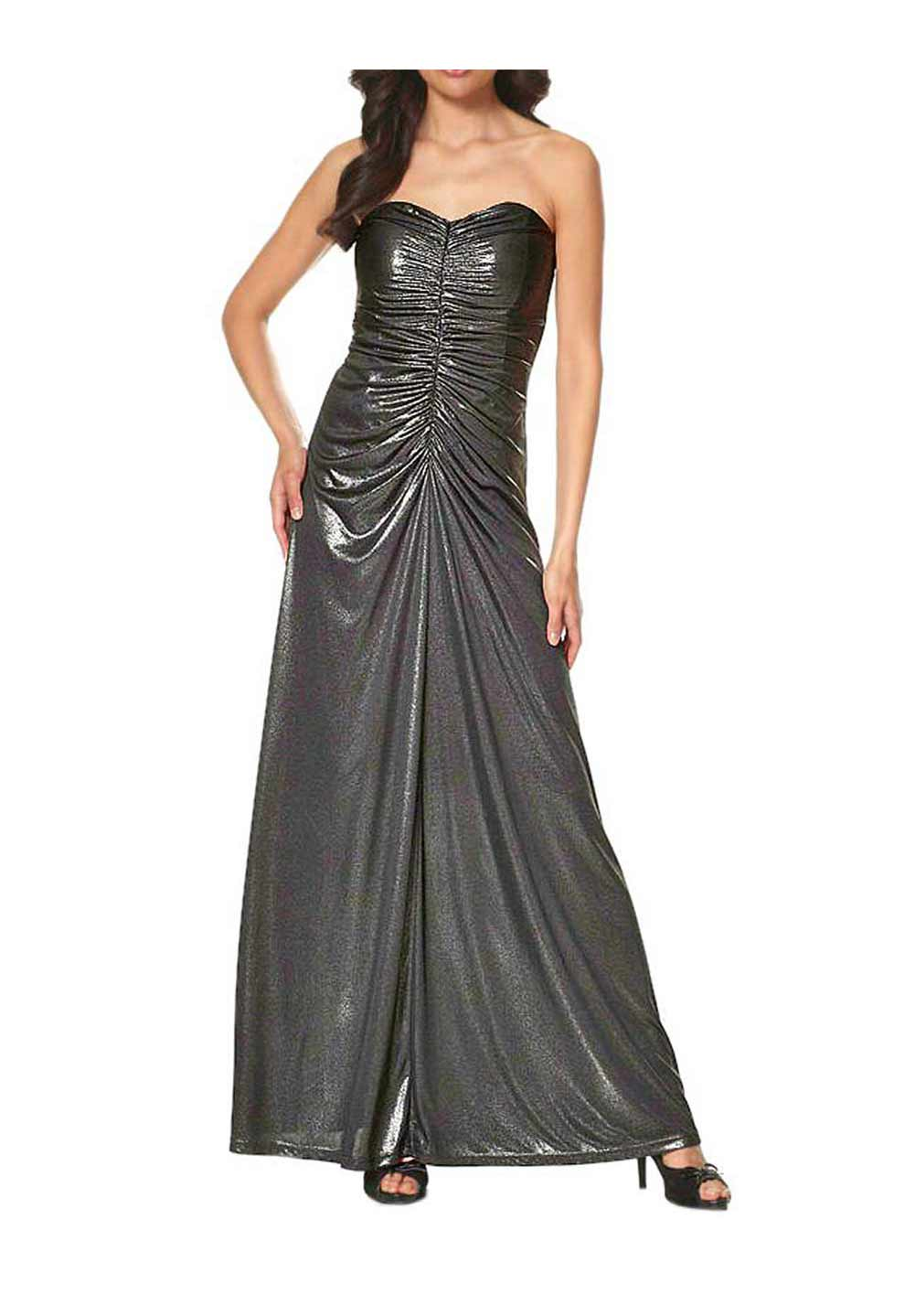 Festmoden Laura Scott Evening Abendkleid lang, schwarz-metallic 475.706 475.706 Missforty