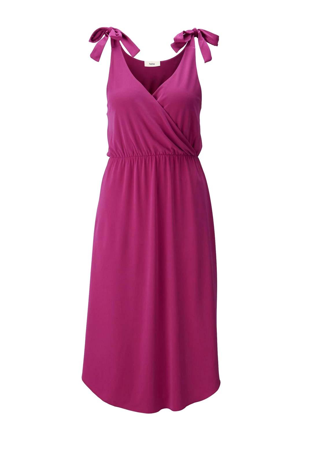 497.915 Sommerkleid Damen Pink ärmellos Jerseykleid Damenkleid knielang Urlaub