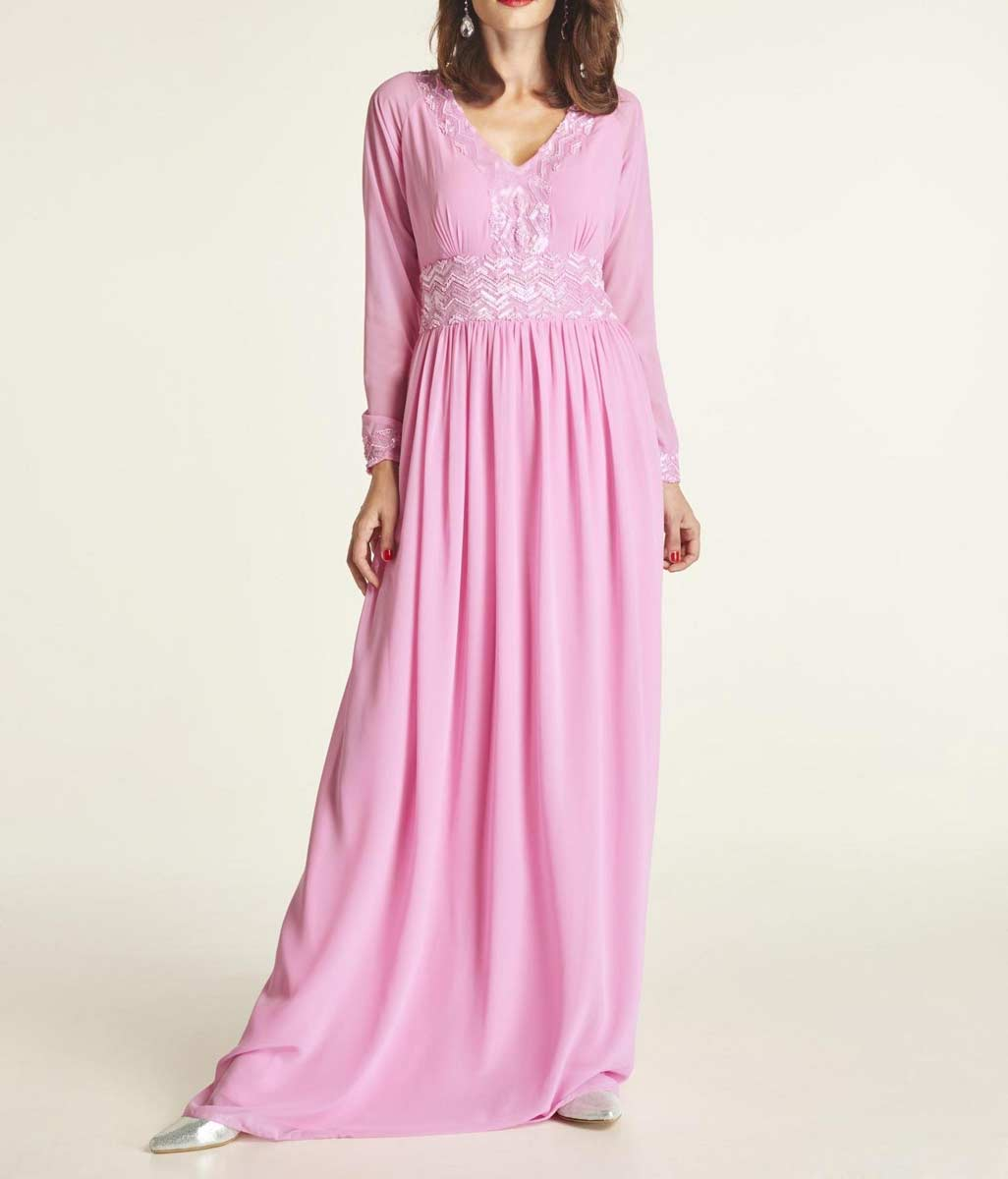 Festmoden Heine Abendkleid lang, pink 516.059 516.059 Missforty