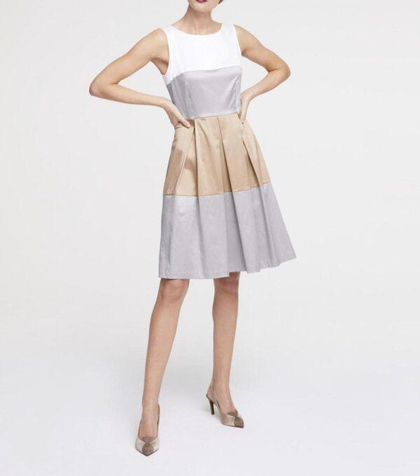 578.346 Sommerkleid 36 S Kleid für Damen elegantes Kleid gestreift Prinzesskleid Satin
