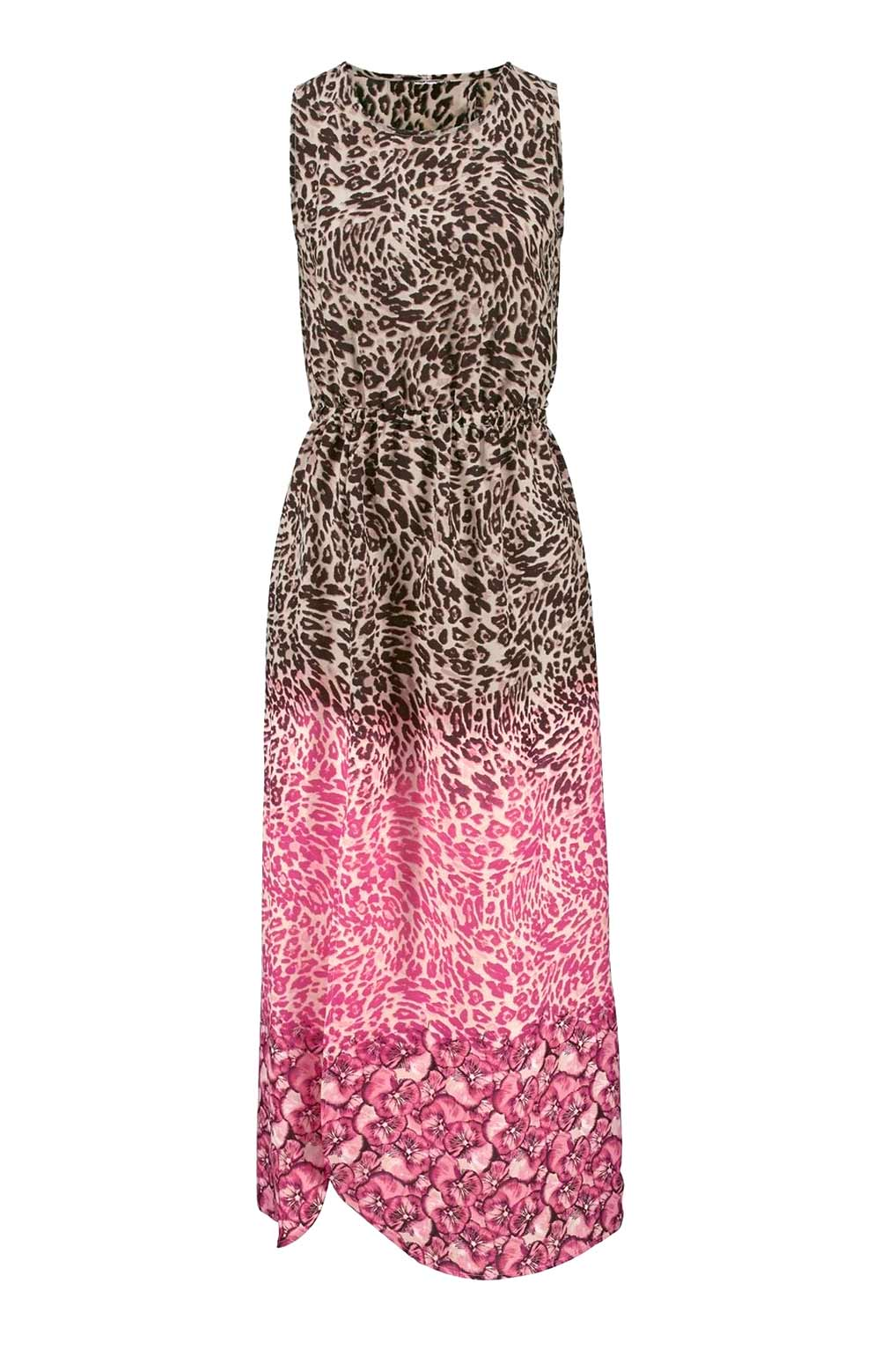 Vivance Collection Maxikleid, sand-taupe-pink 639.154 missforty