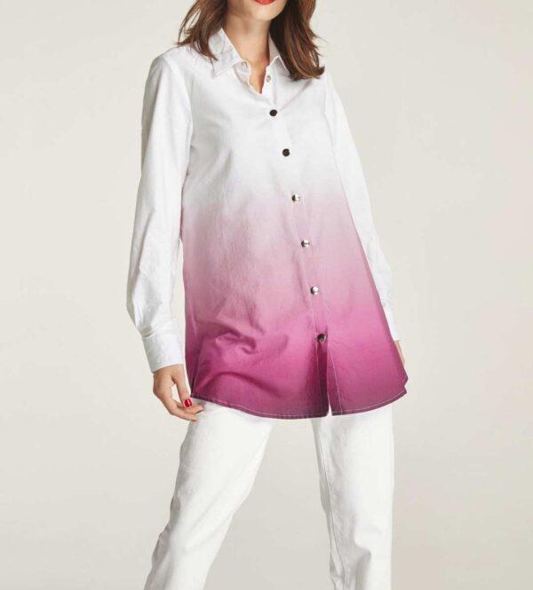 Heine Longbluse, weiß-pink 887.125 Missforty