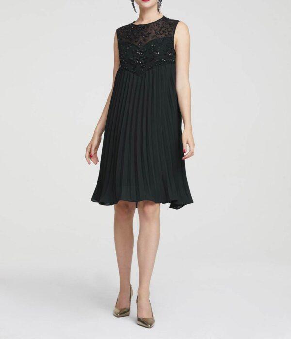 kurzes kleid für besondere anlässe Heine Cocktailkleid mit Perlen schwarz 894.738 Missforty