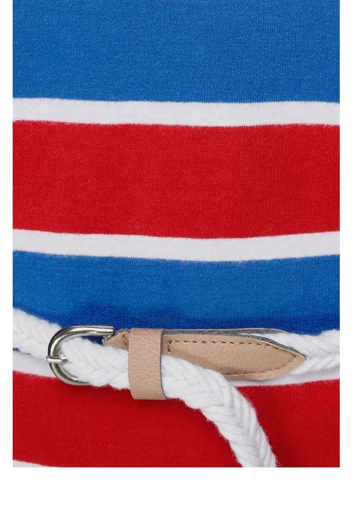 972.133 Jerseykleid m. Gürtel, blau-rot von KangaROOS Grösse 34