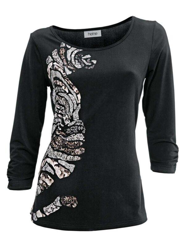 003.991 HEINE Shirt mit Druck Schwarz 003.991