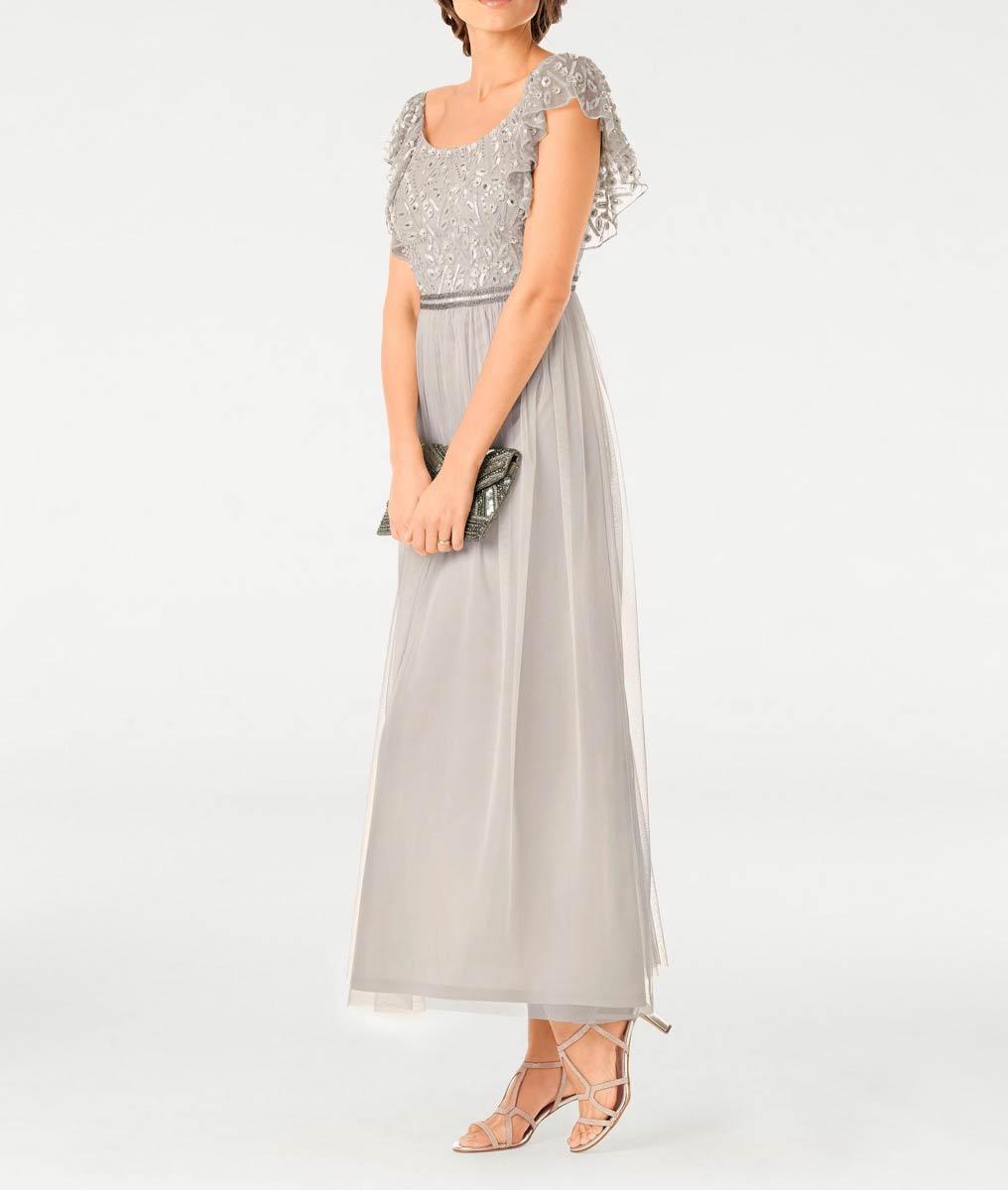 Festmoden Ashley Brooke Abendkleid lang, silbergrau 013.535 013.535 Missforty