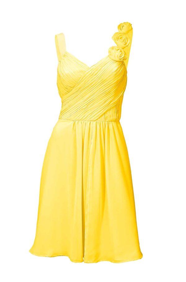 Ashley Brooke event Abendkleid kurz, gelb 064.941 Missforty.de