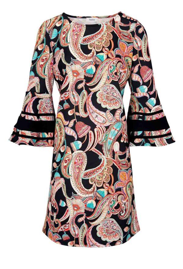 196.550 HEINE Damen Designer-Jerseykleid Bunt