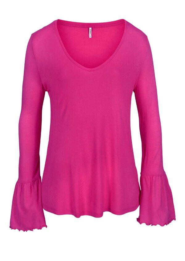 236.315 ONLY Shirt mit Volants, pink