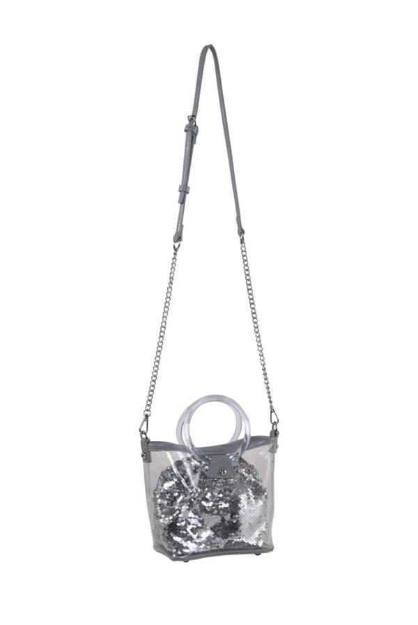 Tasche, transparent-grau-silber von HEINE Grösse 0 Missforty.de