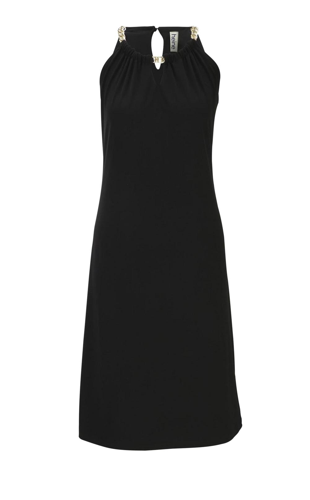 Heine Kleid mit Ketten, schwarz 433.140 Missforty.de