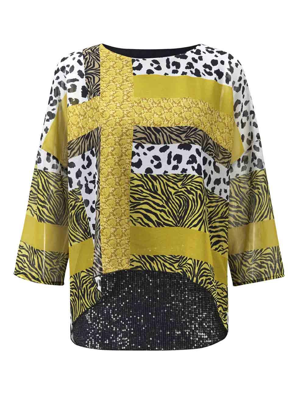 Création L Bluse, gelb-bunt 855.943 Missforty