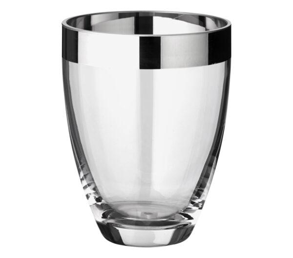 1222 Edzard Vase Charlotte mundgeblasen Kristallglas Platin Rand Blumenvase Glasvase