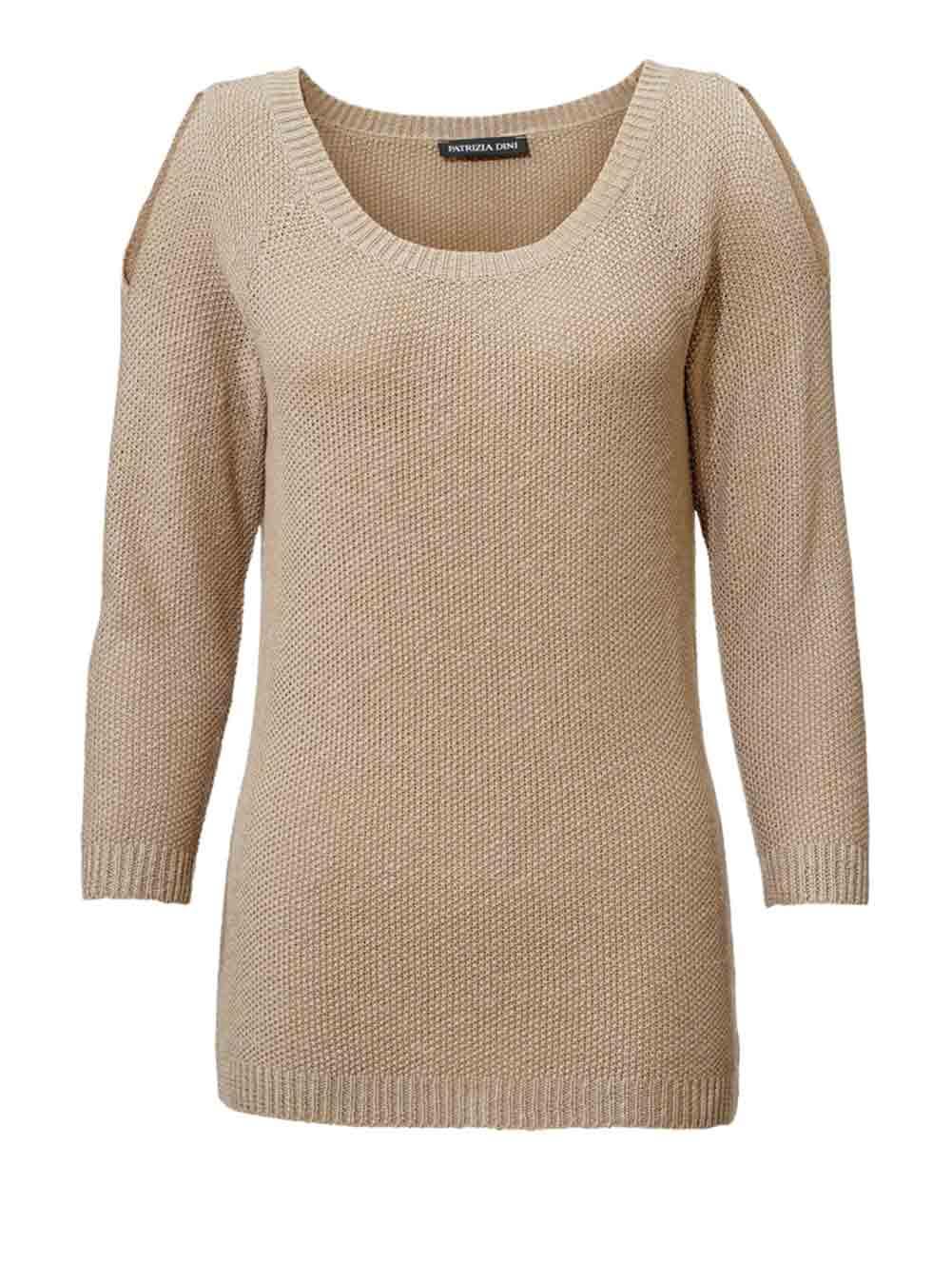 PATRIZIA DINI Strickpullover Damen taupe 004.052 Missforty Online Shop