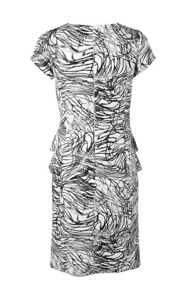 052.638 APART Kleid weiß-schwarz-grau 052.638