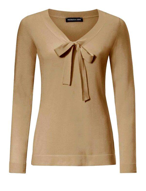 PATRIZIA DINI Strickpullover Damen camel 058.325 Missforty Online Shop