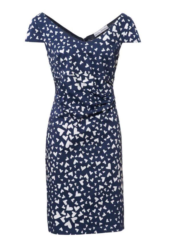 081.197 Ashley Brooke Optimizer-Kleid marine-weiß 081.197