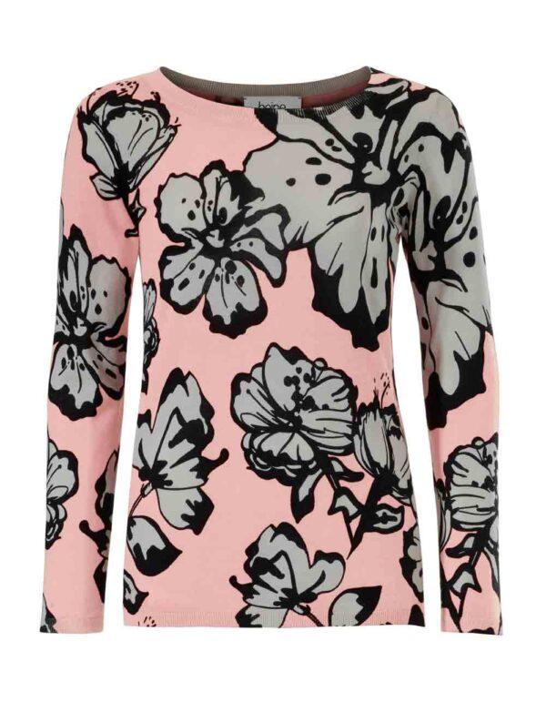 Heine Strickpullover Damen rosa-offwhite 097.327 Missforty Online Shop
