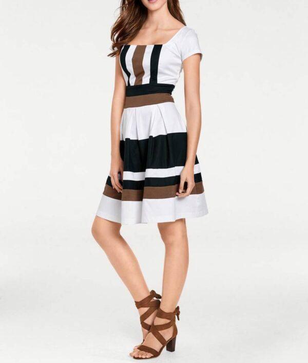 162.374a Ashley Brooke Prinzesskleid schwarz-weiß 162.374a