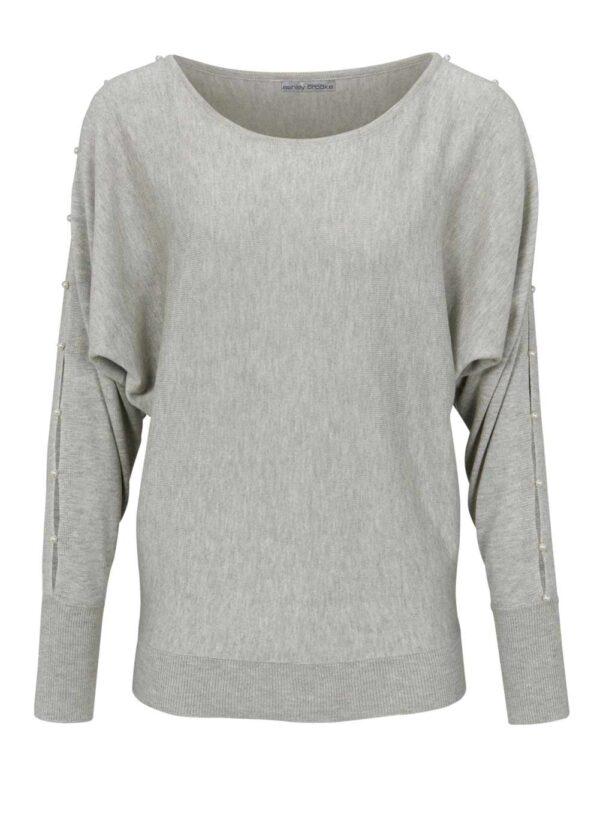 Heine Strickpullover Damen grau-melange 624.186 Missforty Online Shop