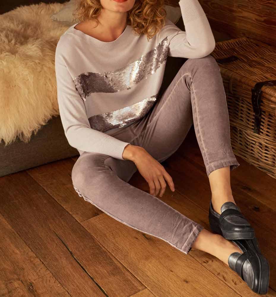 Heine Strickpullover Damen nude 680.036 Missforty Online Shop