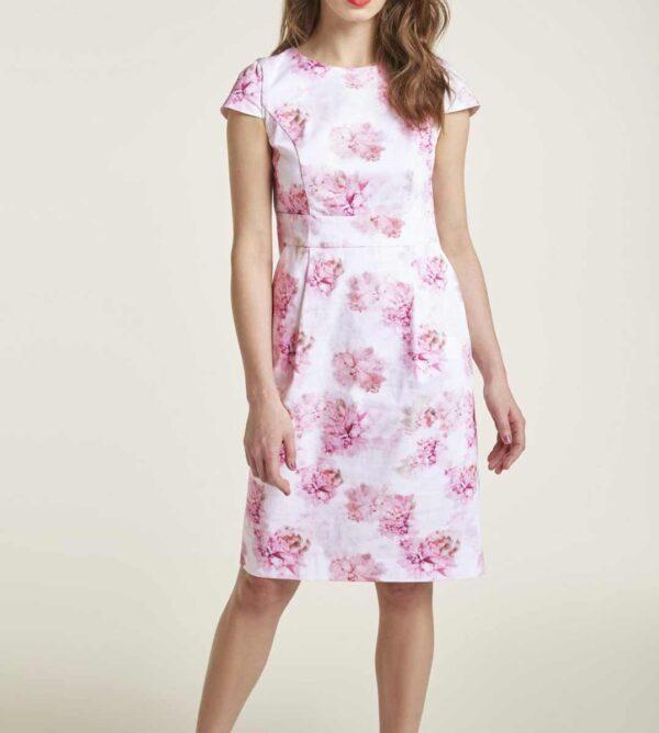 Heine Kleid, weiß-pink-rose 727.466 missforty